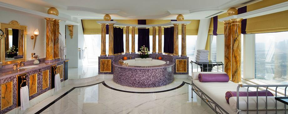 A Look Inside The Opulently Designed Bathrooms At Burj Al