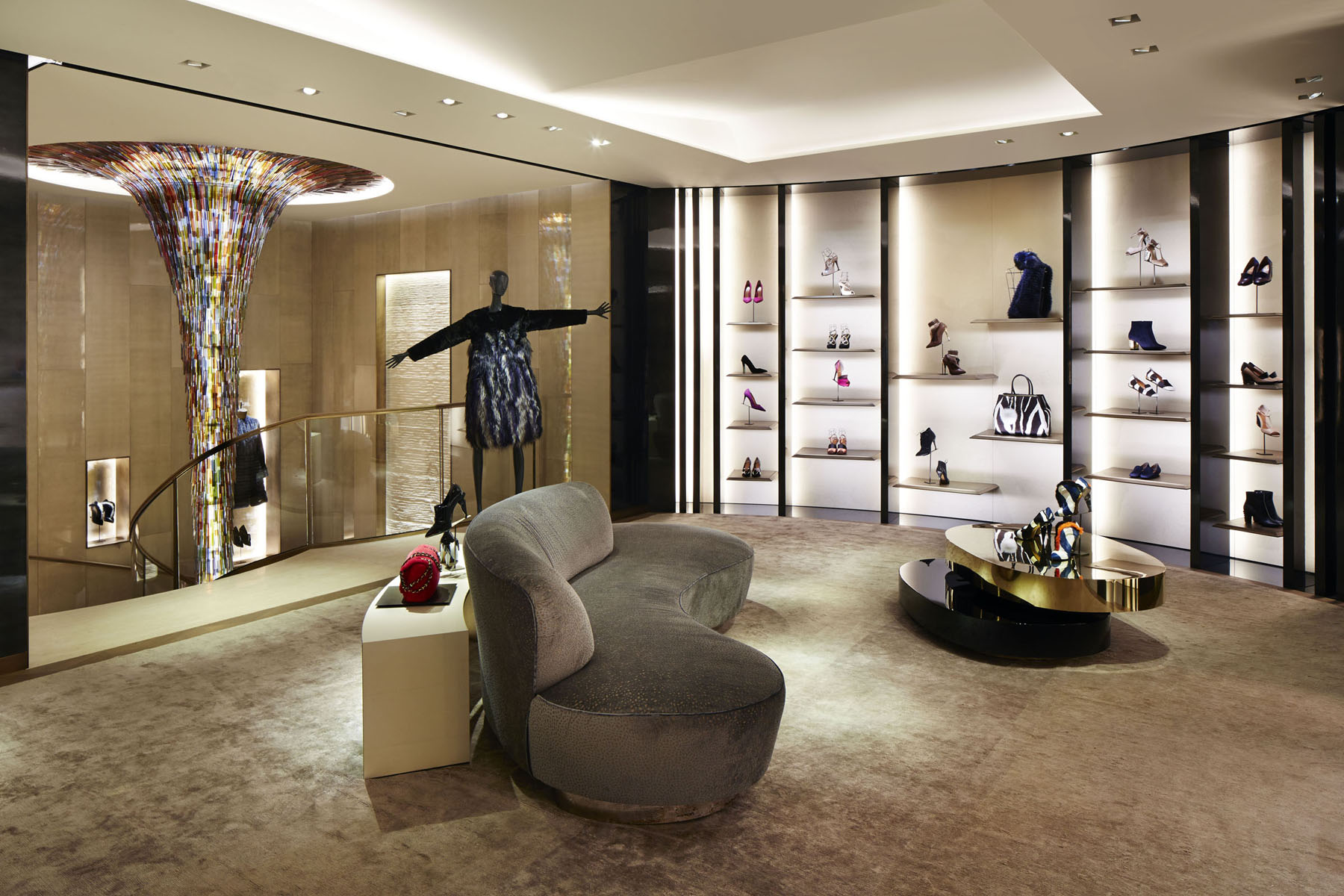 New Fendi Store Opens At 51 Avenue Montaigne Paris