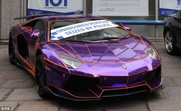 A 450 000 Purple Lamborghini Aventador Seized In London