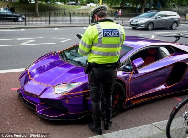 A 450 000 Purple Lamborghini Aventador Seized In London Could Be