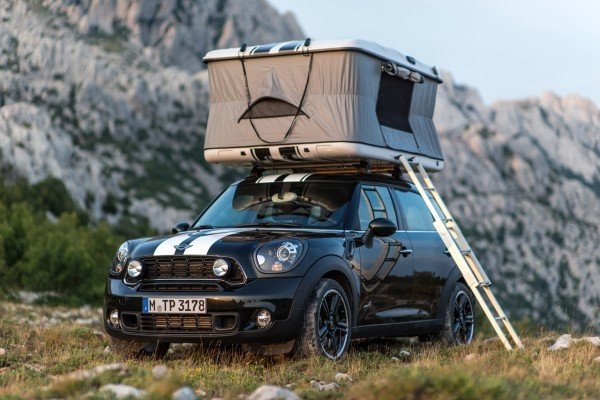 mini unveils the world 39 s smallest luxury camper van along with two other concept campers. Black Bedroom Furniture Sets. Home Design Ideas