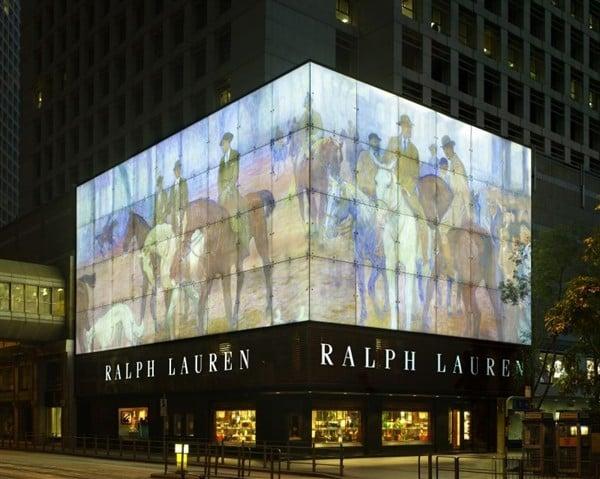 ralph lauren flagship hong kong polo asia exterior facade interior glass stores retail avenue mens wows luxury fabrication boasts unique