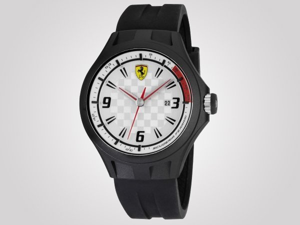 scuderia day yellow watch ferrari black mens watches striped silicone product race strap