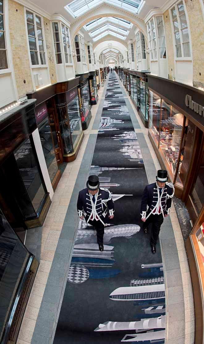 New 180 metre long bespoke designed carpet unveiled at Burlington Arcade