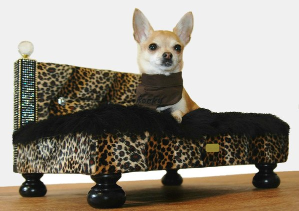 Bejeweled Dog Furniture Commissioned For A Chihuahua Sells