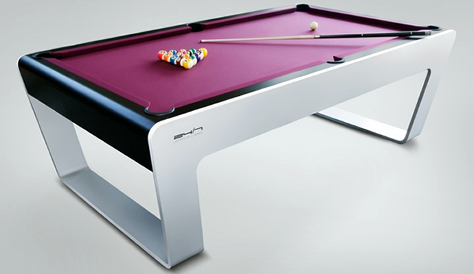 Uber stylish bespoke billiards table from porsche design for 7 mesas de billar frances