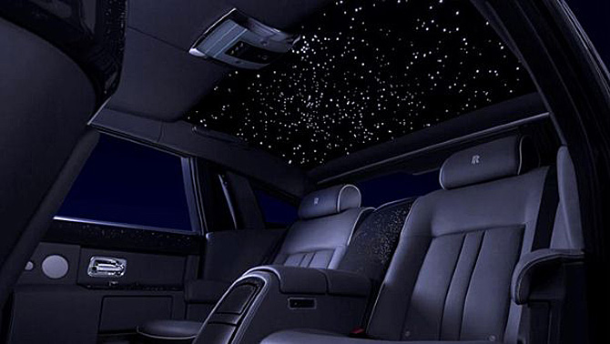 Rolls Royce Phantom Celestial with starlight headliner ...