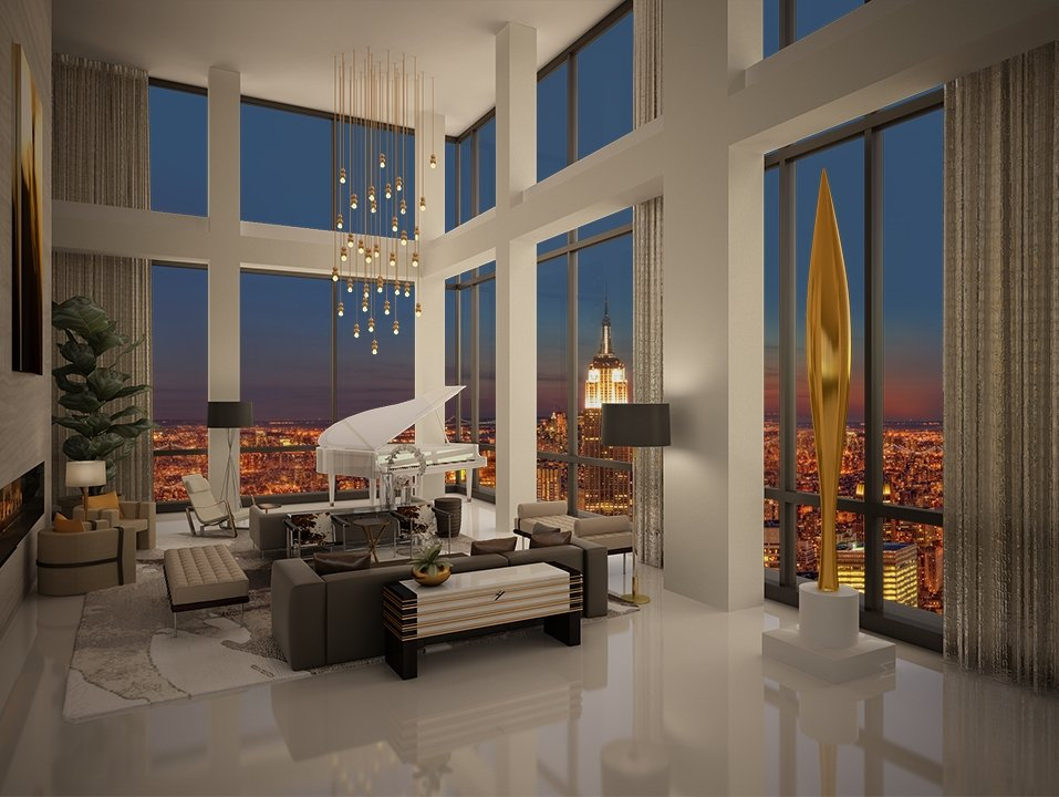 trump soho new york trumps city s real estate with a swanky 50 million presidential penthouse. Black Bedroom Furniture Sets. Home Design Ideas