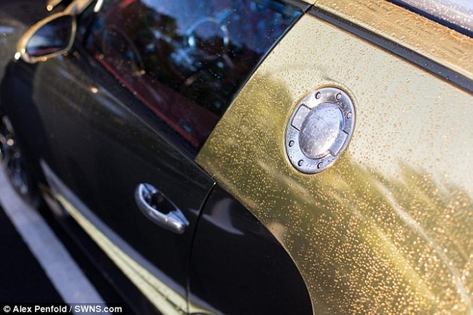 Gold Bugatti Veyron Of A Saudi Millionaire Makes Crowds Go