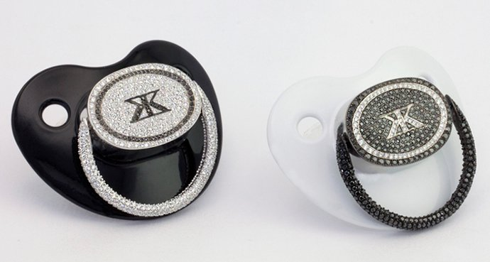 A 50 000 Black Diamond Pacifier Is Fit To Pacify A Crying