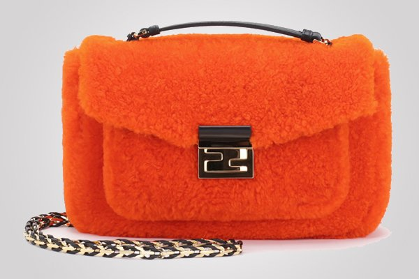 fendi-bebaguette-bag-shearling-orange
