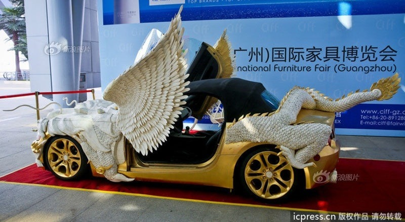 A Gold Bmw Z4 Inspired By A Fire Breathing Dragon Put On
