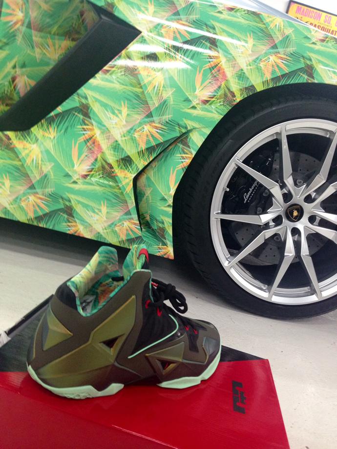 Lebron James's Lamborghini Aventador is customized to ...