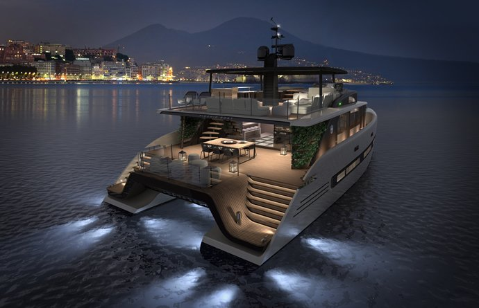 At $8 million the Picchio Catamaran can be your personal island in the high seas : Luxurylaunches