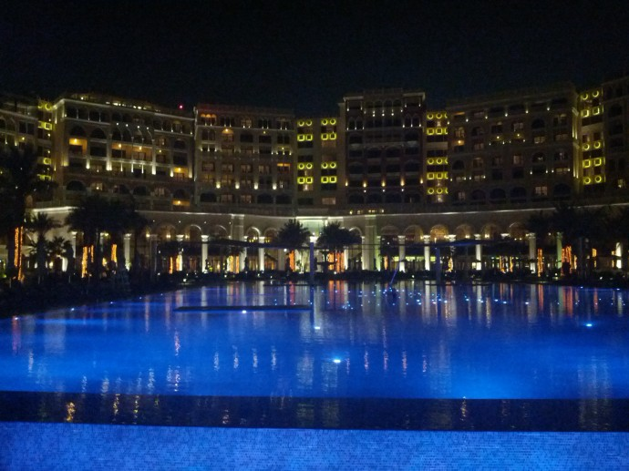 ritz-abu-pool-night