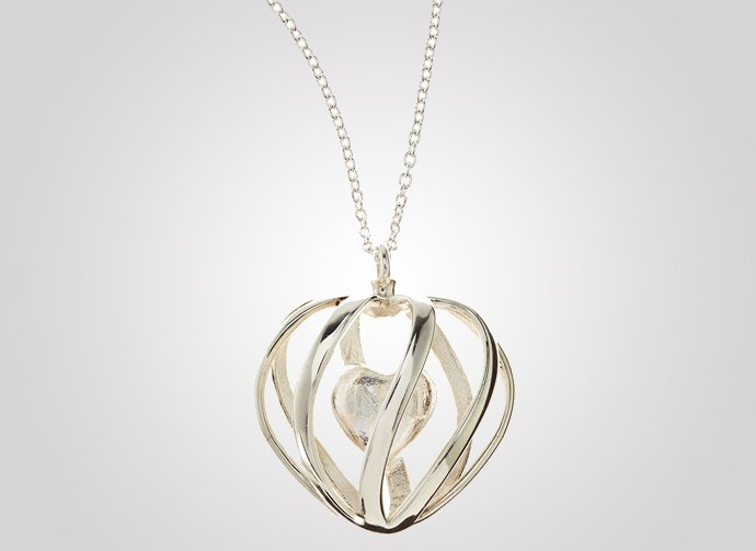 3d-printed-silver-heart-pendant-necklace-1