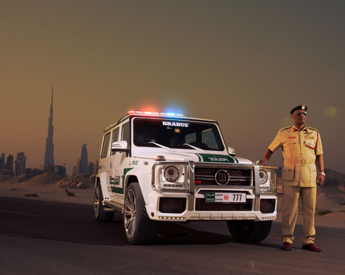 A 700hp Brabus G63 Amg Is The Latest To Join Dubai Polices Fleet Of