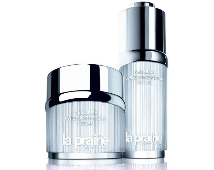 Review, Ingredients: La Prairie Cellular Swiss Crystal Cream, Dry Oil - Swiss Ice Crystal Complex Helps Skin Protect Itself From Aging