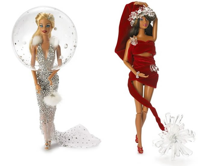 Barbie does festive fashion with five designs by Steven Jones
