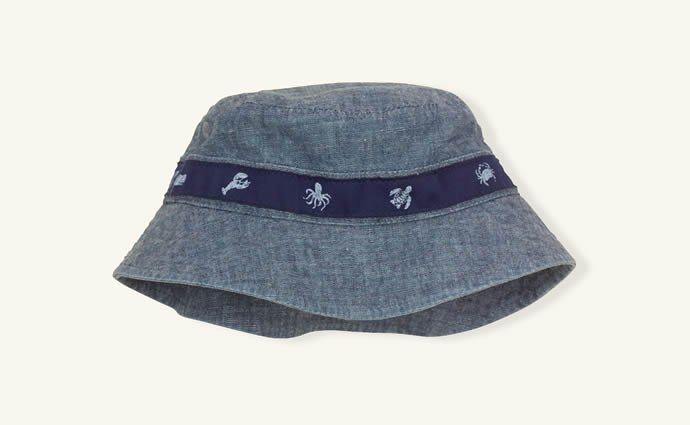 Layette Cotton Chambray Bucket Hat