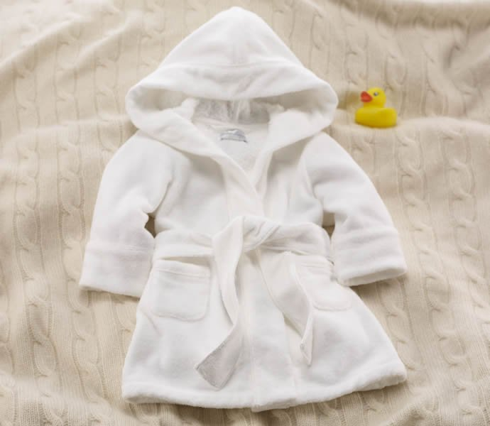 Layette Hooded Terry Robe-2