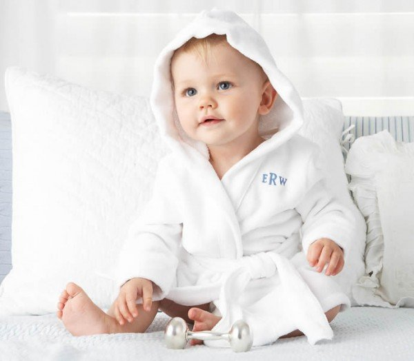 Layette Hooded Terry Robe