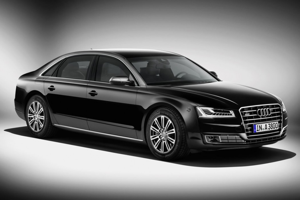 audi claims its newly launched 2014 a8 l security is the. Black Bedroom Furniture Sets. Home Design Ideas