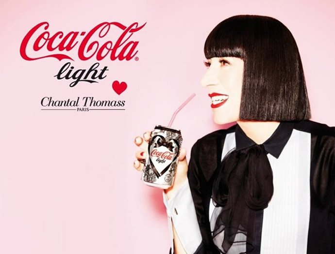 French designer Chantal Thomass creates lingerie inspired limited edition Diet Coke cans : Luxurylaunches