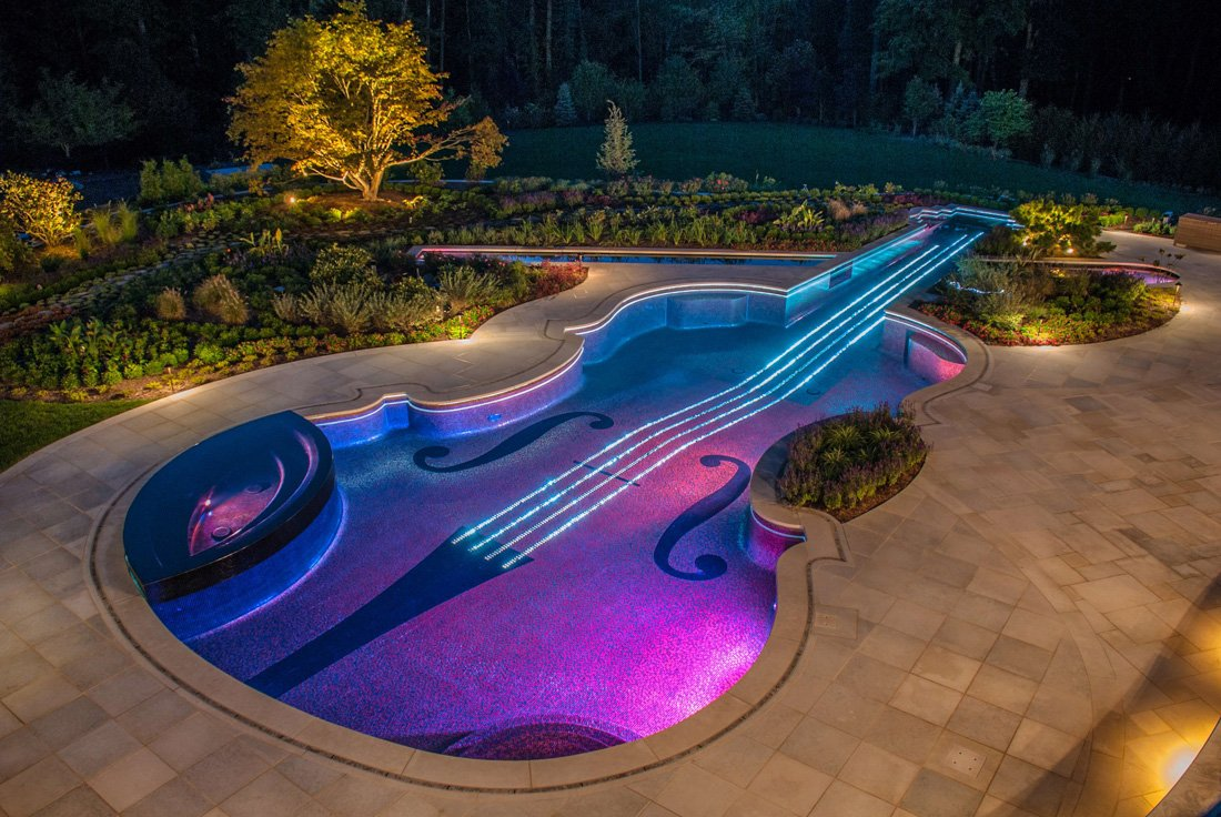 Simply Amazing - Violin shaped custom designed swimming pool : Luxurylaunches