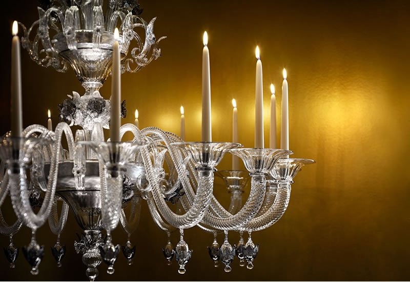 A Murano Gl Chandelier That Has The Best Of Both Worlds Real Wax Candles And Led Lights