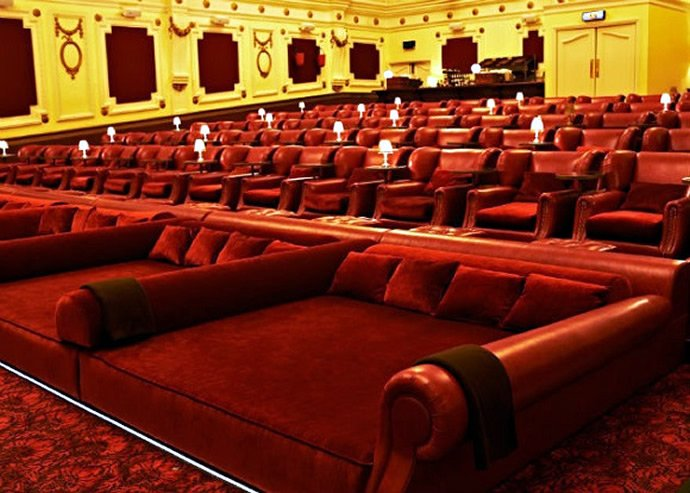 with beds for seats these four movie theaters take comfort to a whole new level