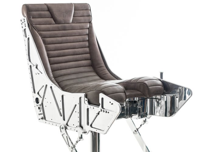 Ejector Seat From A Fighter Jet Converted Into A Bar Stool