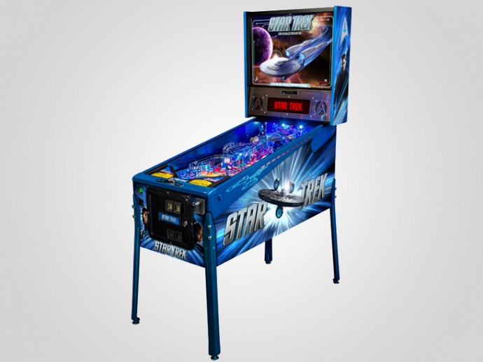Your mancave will live long and prosper with Stern's limited edition Star Trek Pinball machine