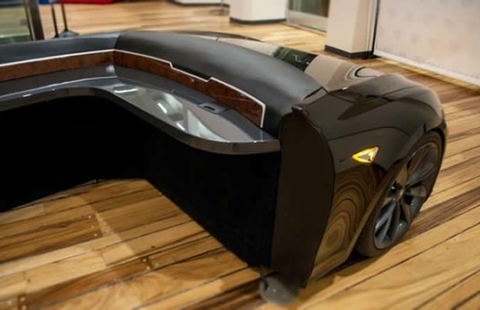 70 000 Tesla Model S Turned Into Office Desk Named Deskla