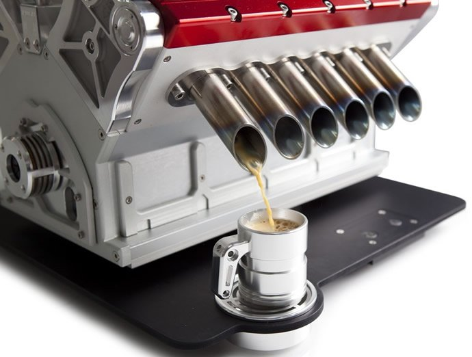 Rev up your mornings with a $15,000 racecar-inspired coffee machine : Luxurylaunches
