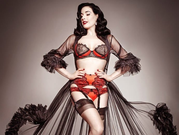 a6bb00617f5 Burlesque beauty Dita Von Teese designs lingerie line for ...