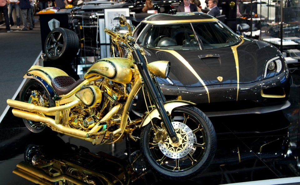 At $880,000 this gold plated and diamond encrusted Danish chopper is the most expensive motorcycle : Luxurylaunches