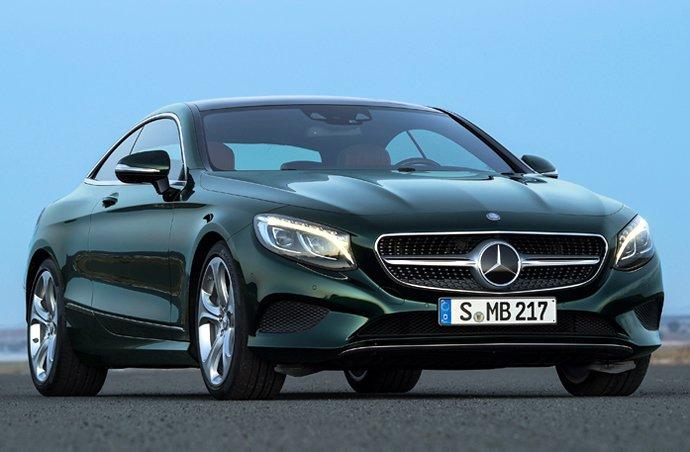 2015 Mercedes S-Class Coupe officially revealed, has headlights encrusted with 47 Swarovski crystals -