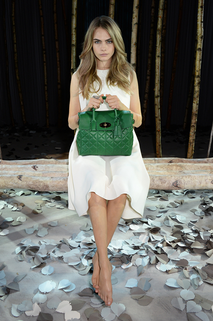 British model Cara Delevingne collaborates with Mulberry ...