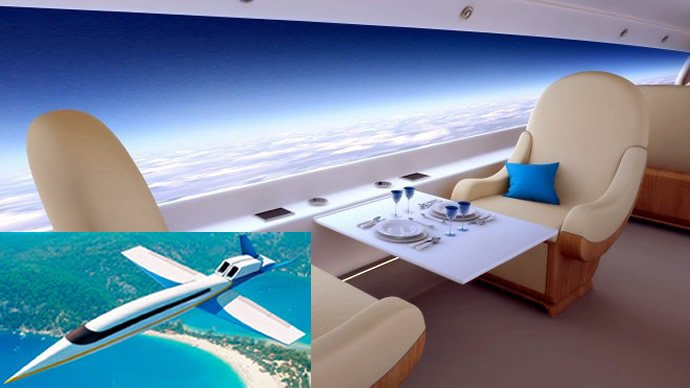 World's first supersonic business jet to ditch windows for panoramic HD virtual displays : Luxurylaunches