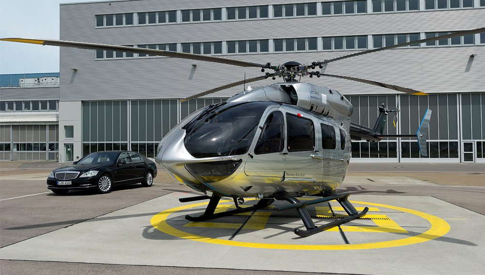 Airbus Ec145 Helicopter With Mercedes Benz Styled