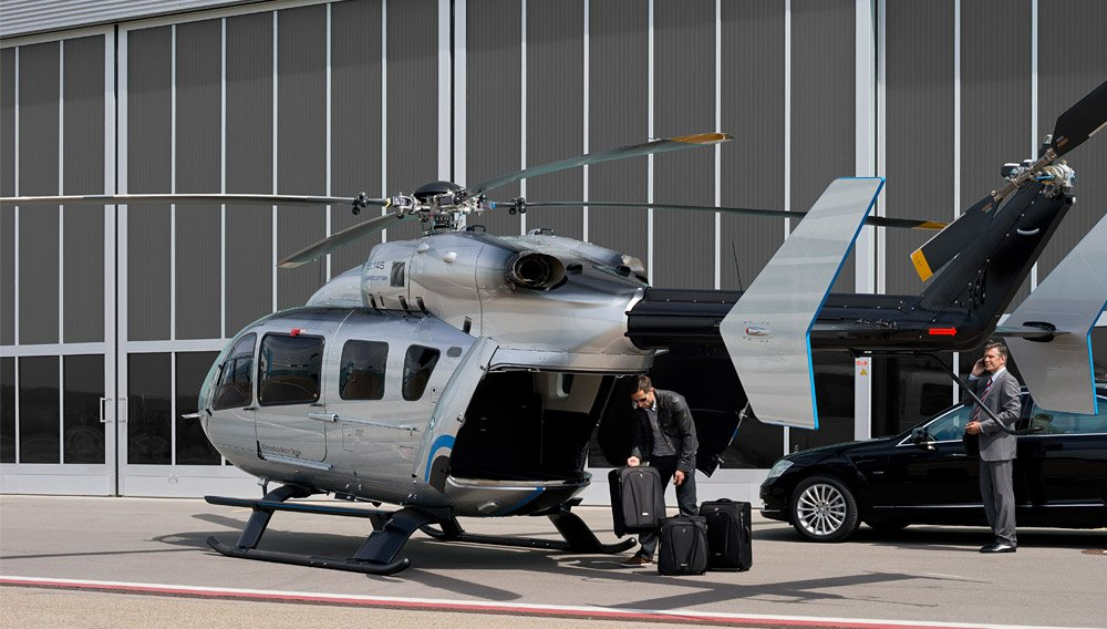 Most Expensive Mercedes >> Airbus EC145 helicopter with Mercedes Benz styled ...