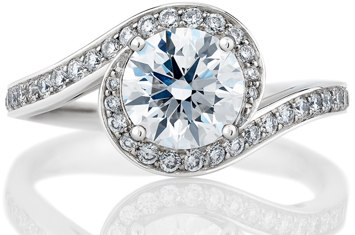 The Caress engagement ring by De Beers celebrates true harmony of love Luxu