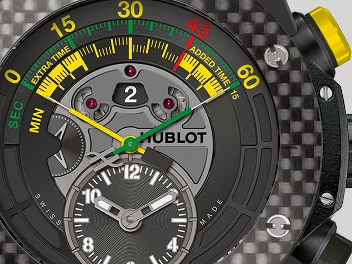 0763aa420 Say hello to the Soccer Bang! Who? Hublot's latest timepiece, that's who!  The 'Hublot Big Bang Official Watch of the 2014 FIFA World Cup Brazil'  introduced ...
