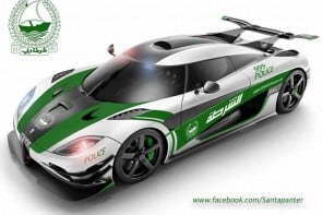 Koenigsegg One:1 gets a Dubai Police makeover