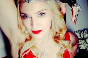 Madonna sparkles in 1000 carats of diamonds in her Oscars after party