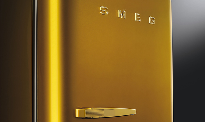 Swarovski studded Smeg's Gold Retro fridge is home ...