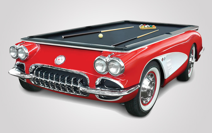 At $25,000 the 1959 Corvette pool table : Luxurylaunches