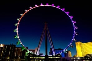 At 550 feet the world's largest observation wheel in Las Vegas dwarfs the London Eye