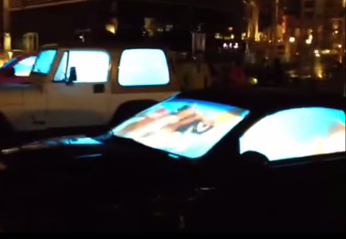 Only In Dubai Car Windows Modified To Look Like Live